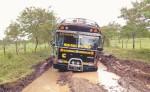 Las rutas a las diferentes colonias de Nueva Guinea  están deterioradas, sin que las autoridades les brinden mantenimiento. LA PRENSA/J. DUARTE