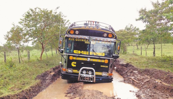 Nicaragua, vías de acceso