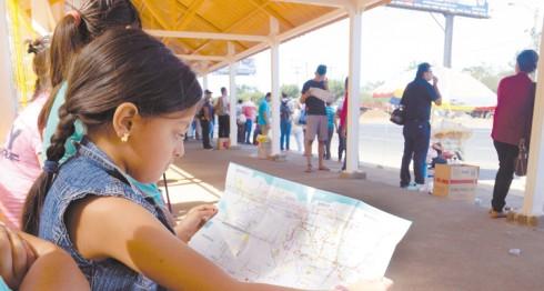 A inicios de febrero de 2016 se presentó el Mapanica,  que orienta a los usuarios de las rutas de Managua y Ciudad Sandino. LA PRENSA/ARCHIVO