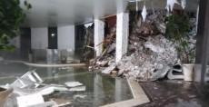Imagen de un video facilitada por la Guardia Financiera del interior del hotel Rigopiano, alcanzado por una avalancha previsiblemente producida por alguno de los cuatro terremotos de magnitud superior a los 5 grados registrados en el centro de Italia.  LA PRENSA/EFE