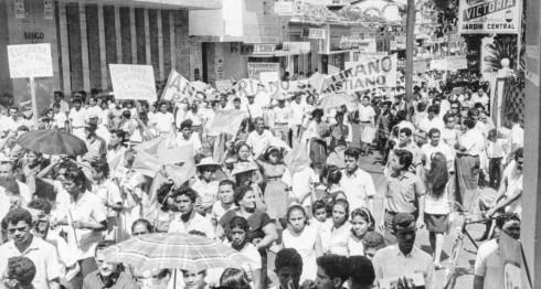 Marcha del 22 de enero de 1967. LA PRENSA/ARCHIVO