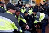 Al menos 217 detenidos por las protestas durante la investidura de Trump