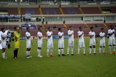 Este fue el once inicial que logró la décima victoria de la Selección en la era Henry Duarte. LAPRENSA/ CORTESÍA/ FENIFUT