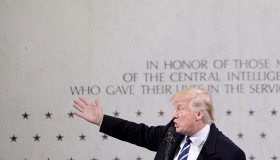 Donald Trump, presidente de los Estados Unidos, en enero 2017. LA PRENSA / EFE/EPA/Olivier Douliery
