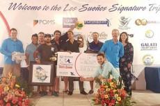 Los pescadores de la embarcación nicaragüense Xta-Sea celebran la conquista de este importante torneo. LA PRENSA/CORTESÍA/LENIN REYES