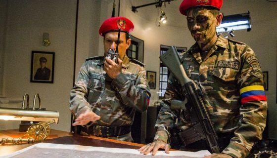"""Escenas del rodaje de la serie de Hugo Chávez El Comandante"""". LAPRENSA/EFE/CANAL-RCN"""