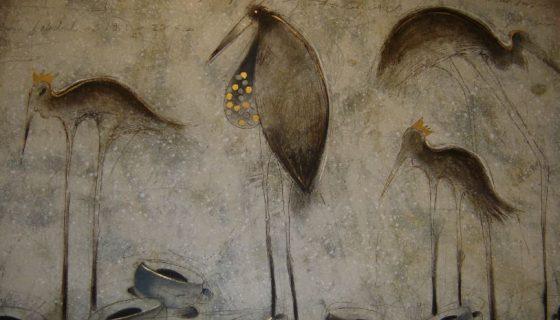 Cuatro personajes, mixta sobre tela 2008. Amador Montes. LAPRENSA/Cortesia