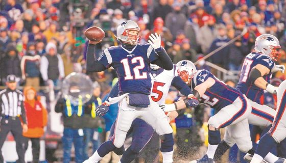 Tom Brady de los Patriots. LAPRENSA/ AFP