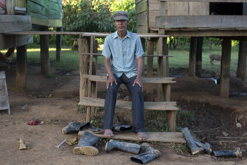 Uno de los ancianos de la comunidad de Layasiksa 2, Julio Serapio. LA PRENSA / JADER FLORES.