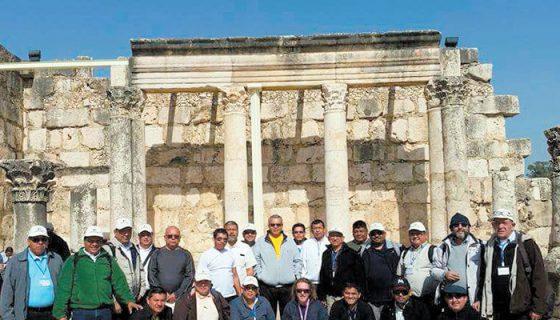 Los sacerdotes de la Diócesis de Chontales en su viaje por Israel. lA PRENSA/CORTESÍA.