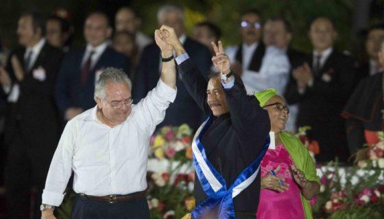 El diputado Gustavo Porras, presidente de la Asamblea Nacional, celebra una nueva investidura del presidente designado por el Consejo Supremo Electoral, Daniel Ortega. LA PRENSA/ARCHIVO