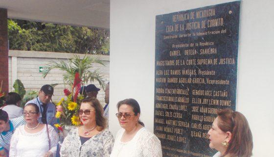 Magistradas de la CSJ inauguraron Juzgado Local en Corinto LAPRENSA/SAUL MARTÍNEZ