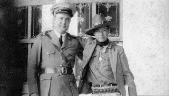 Anastasio Somoza García junto a Augusto C. Sandino