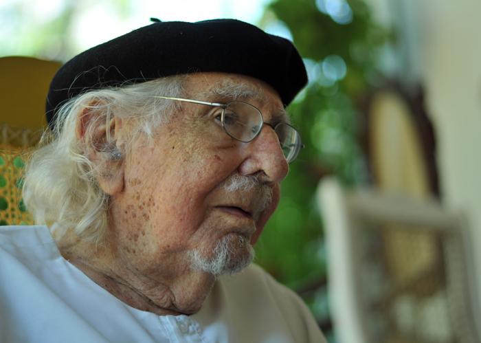 Ernesto Cardenal, poeta, sacerdote y pintor. LA PRENSA / Manuel Esquivel.