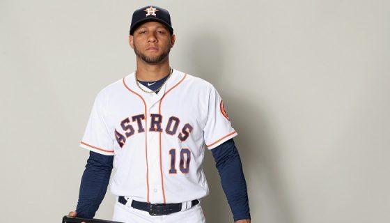 El cubano Yuliesko Gurriel ocupará la primera base con los Astros de Houston. LA PRENSA/Matthew Stockman/Getty Images/AFP