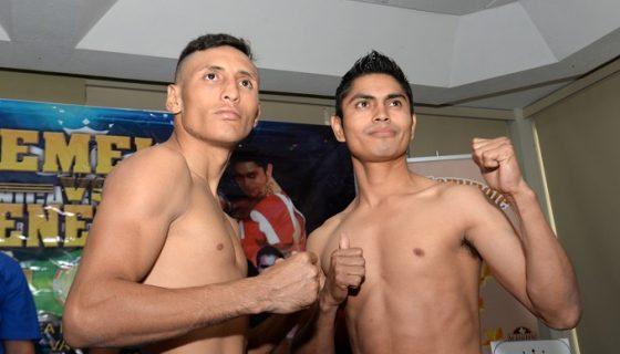 Félix Alvarado en el cara a cara con el mexicano Gabriel Ruiz. Foto: Roberto Fonseca