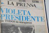El día que Violeta Barrios de Chamorro se convirtió en presidenta de Nicaragua