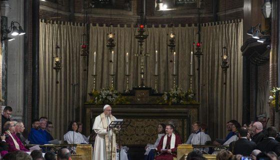 Iglesia anglicana, papa Francisco