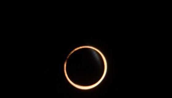 anillo de fuego, eclipse anular solar,
