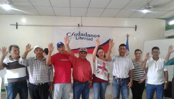 Los nuevos directivos de CxL en Nueva Segovia. LA RENSA/A.LORIO