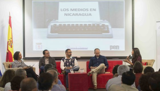 Periodistas debatieron en el Día del Periodista sobre las nuevas tecnologías y sobre si hay o no libertad de expresión en Nicaragua. Foto: Lisa Villagra