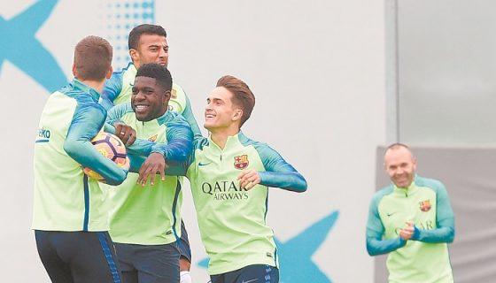 El Barcelona llega inspirado tras conseguir el liderato de la Liga española la pasada jornada con una goleada sobre Sporting de Gijón. LAPRENSA/ AFP