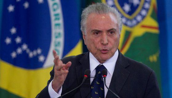 Michel Temer, presidente de Brasil. LA PRENSA/EFE