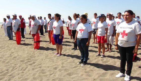 Desde hace varias semanas más de 150 socorristas de la Cruz Roja de León, se preparan para el Plan Verano 2017. LA PRENSA/E. López