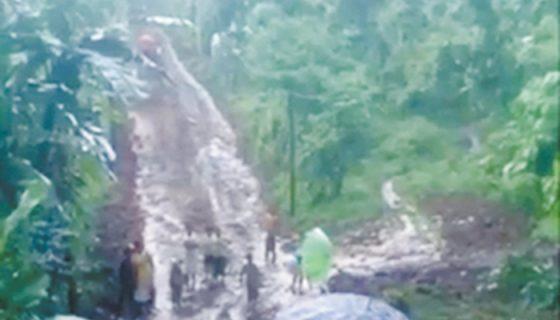 Las lluvias habrían provocado grandes corrientes e inundaciones en varias zonas de Waslala, Caribe Norte. LA PRENSA/CORTESÍA