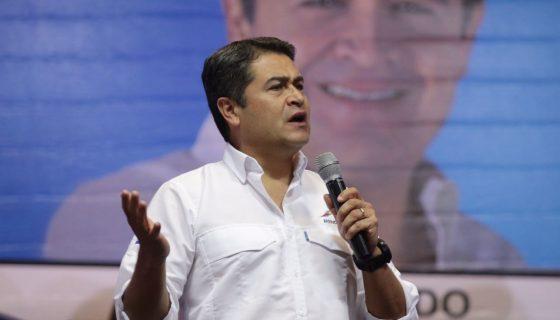 El presidente hondureño Juan Orlando Hernández. LA PRENSA/AFP