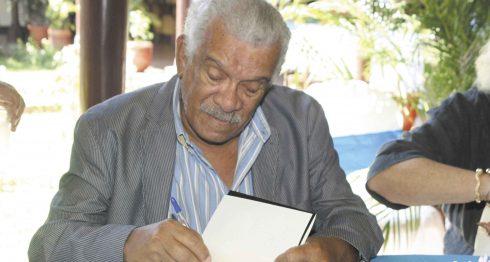 Premio Nobel de Literatura 1992 Derek Walcott, estuvo en Nicaragua en el año 2012 durante el VIII Festival Internacional de Poesía de Granada. LA PRENSA/E.LOPEZ