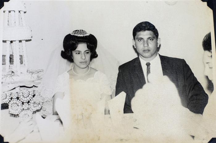 Vilma Núñez cuando contrajo matrimonio con el médico leonés Otto Escorcia, en 1963. Tienen dos hijos, Otto y Eugenia. Cuatro nietos y una bisnieta. LA PRENSA/ REPRODUCCIÓN