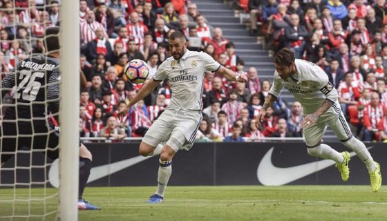 Benzema abrió el marcador del Real Madrid. LAPRENSA/ EFE