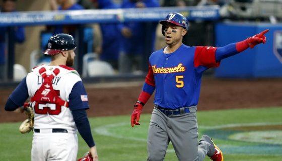 Venezuela trastabilla en la segunda ronda del Clásico Mundial de Beisbol. Foto: EFE