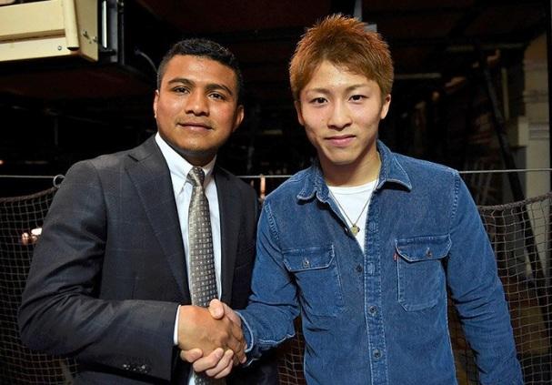"""Román """"Chocolatito"""" González tuvo un encuentro con Román González en su reciente gira por Japón. Foto: Tomada de Instagram de Naoya Inoue"""