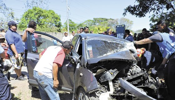 Carazo, accidente de tránsito, accidentes de tránsito en Nicaragua