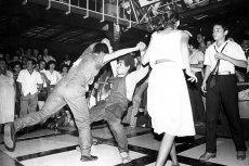 La discoteca Infinito era uno de los lugares recreativos de los años ochenta. Ahí los jóvenes hacian sus mejores pasos de bailando disco y break dance. Foto: La Prensa