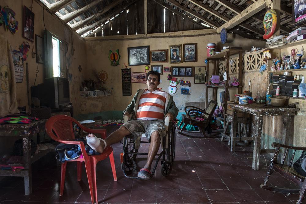 Bracamontes en su casa en San Juan de Oriente, Masaya. Foto: Óscar Navarrete / La Prensa.