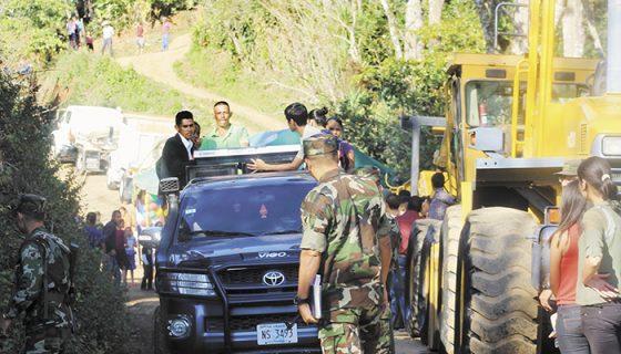 La ruta mejorada, fronteriza con Honduras, beneficiará a 350 productores y 1,783 habitantes. LA PRENSA/A. LORÍO