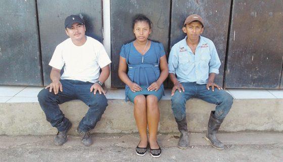 Wilmer López Aráuz, Miladerma y Marvin Trujillo denunciaron amenazas de muerte. LA PRENSA/CORTESIA/H.JARQUÍN.