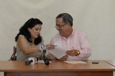Marcela Mejía y Mario Valle fueron los dirigentes de Fenibal y Fenibalón, ahora se unen en una misma directiva del baloncesto nicaragüense. LA PRENSA/ARCHIVO