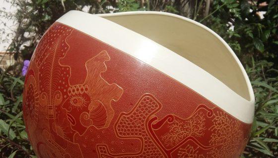 Cazador, cerámica de Miguel Maldonado que recuerda el poema Caupolicán de Rubén Darío. LAPRENSA/CORTESÍA