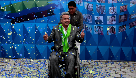 Lenín Moreno, presidente electo de Ecuador. LA PRENSA / Agencias.