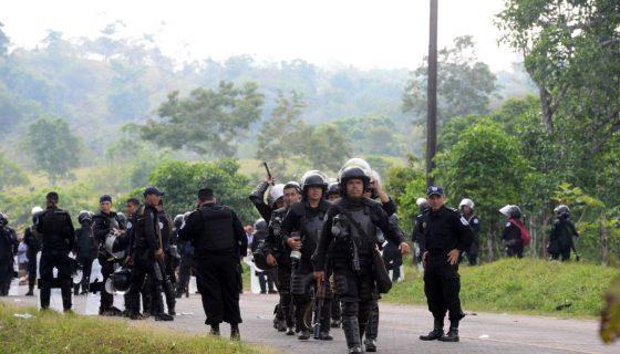 material antidisturbios, Nicaragua, España