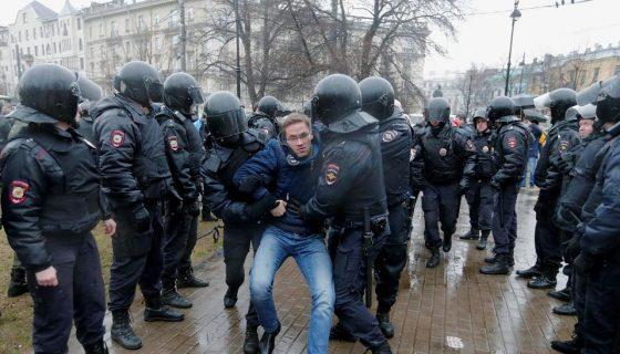protesta contra Vladimir Putin