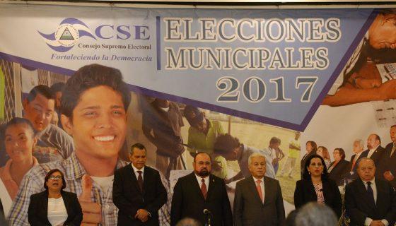 Magistrados del Consejo Supremo Electoral (CSE) convocaron elecciones sin mencionar la observación electoral. LA PRENSA/ARCHIVO