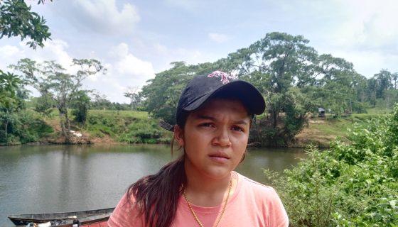 Anielka Zavala, joven estudiante de Ingeniería y originaria de Puerto Príncipe, demanda atención del Gobierno en zona canalera.