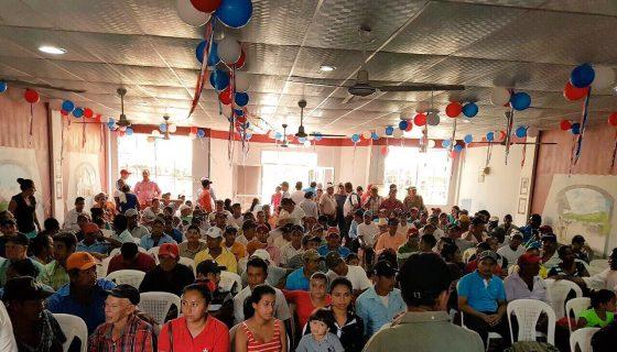 Miembros de Ciudadanos por la Libertad (CxL) en Waslala, durante el proceso interno de elección del precandidato a alcalde en ese municipio. LA PRENSA/CORTESÍA