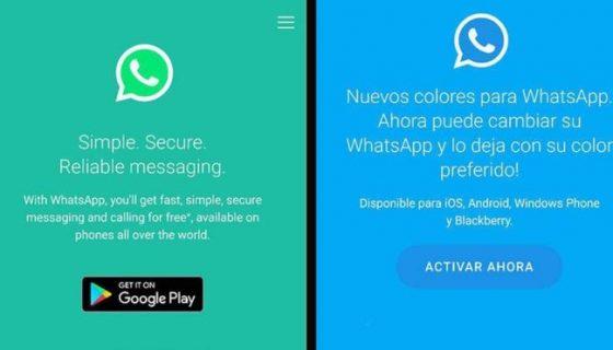 whatsapp de colores