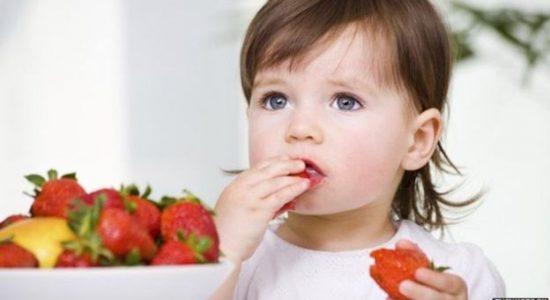 bebés, frutas, salud